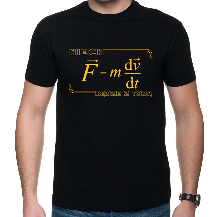 Topnotch Koszulka Niech Moc Będzie z Tobą Fizyka (męska) - Śmieszne Koszulki QS04