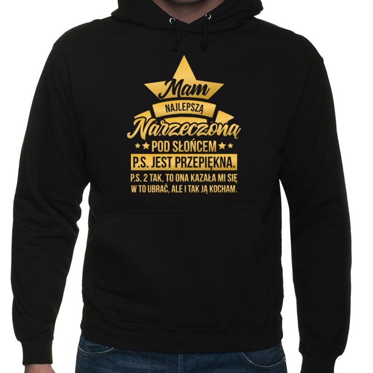 Bluza Mam najlepszą Narzeczoną pod Słońcem (męska) złoty napis