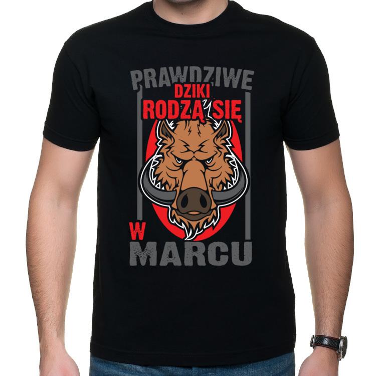 Koszulka Prawdziwe dziki rodzą się w marcu (męska)