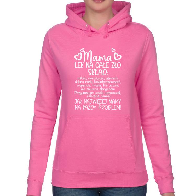 Bluza z kapturem Mama lek na całe zło 4 (damska)