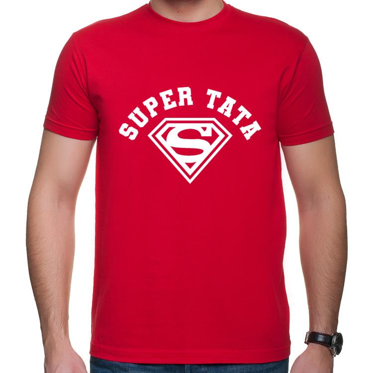 Koszulka dla Taty Super Tata Super Man (męska)