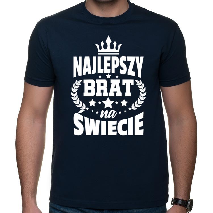 Koszulka z napisem Najlepszy Brat na świecie (męska)