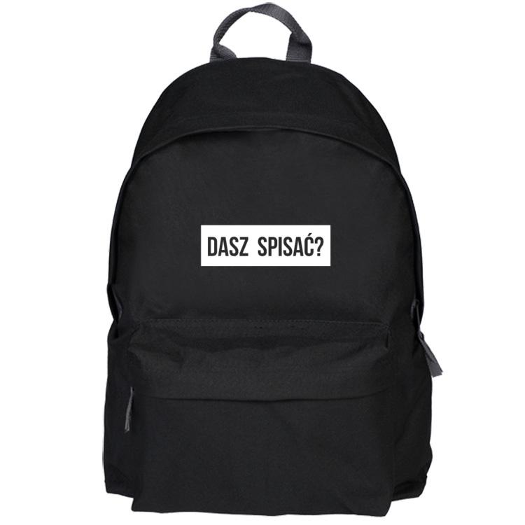 Czarny plecak - dasz spisać?