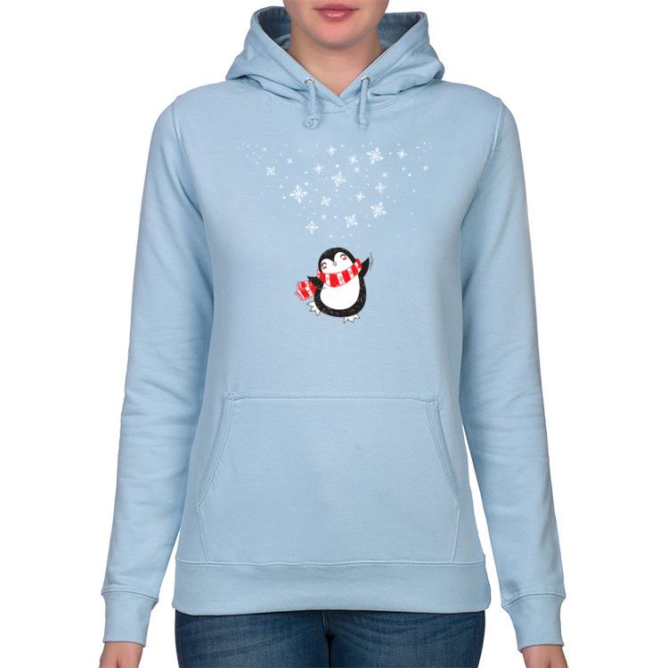 Bluza z pingwinem w szaliku (damska)
