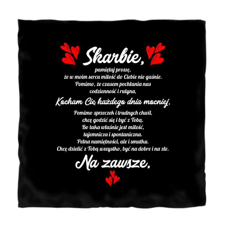 Poduszka z romantycznym tesktem dla ukochanej osoby (czarno-biała)