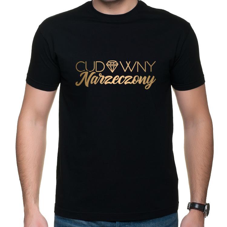 Koszulka z napisem Cudowny Narzeczony (męska)