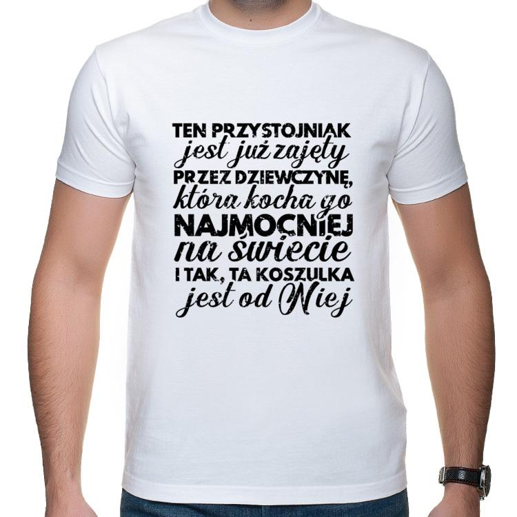 Koszulka Ten przystojniak jest już zajęty (męska)
