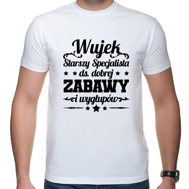 Koszulka z Nadrukiem dla Wujka Stryjka (męska)