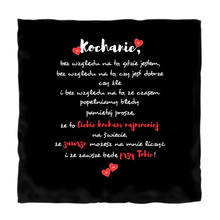 Podusia ze słodkim miłosnym wyznaniem - NA CZARNYM TLE