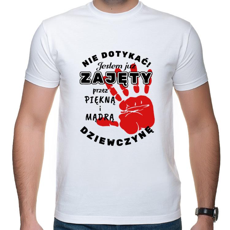 Koszulka na Dzień Chłopaka - Nie dotykać! (męska)