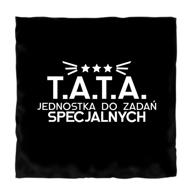 Czarna poduszka T.A.T.A. jednostka do zadań specjalnych