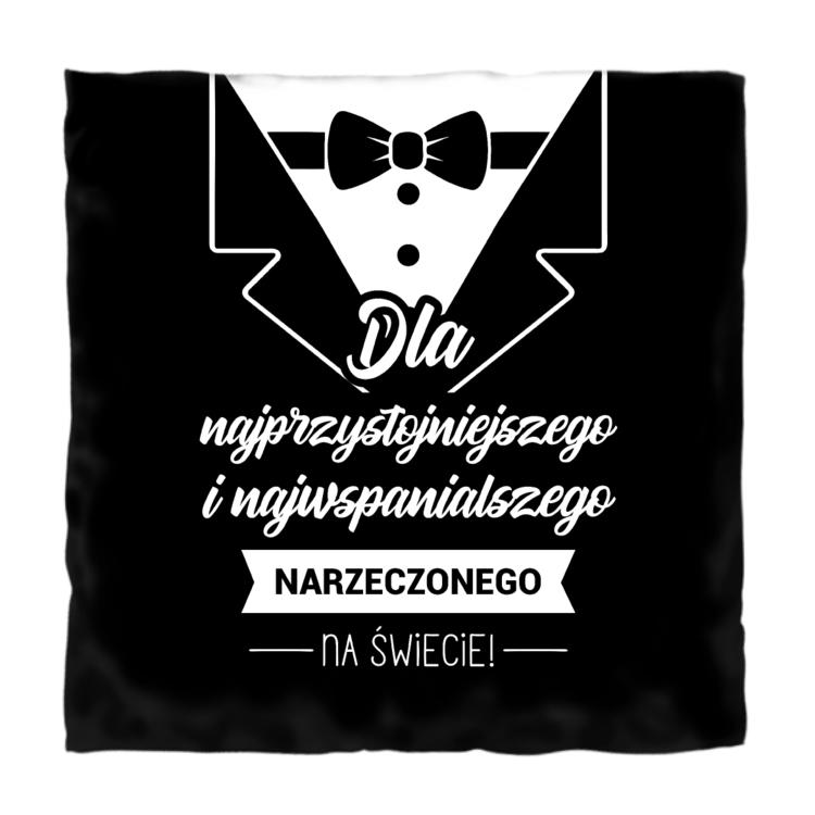 Poduszka dla narzeczonego przystojniaka (czarna)